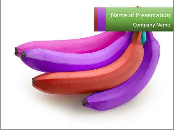 Colorful Bananas Modèles des présentations  PowerPoint