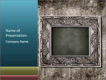 Shabby Photo Frame PowerPoint Template