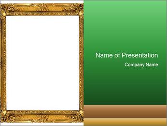 Antique Golden Frame PowerPoint Template