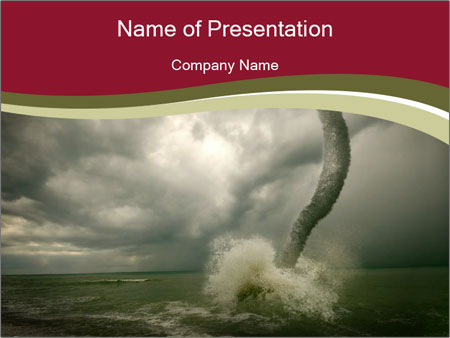 tornado disaster powerpoint template & backgrounds id 0000014252, Modern powerpoint