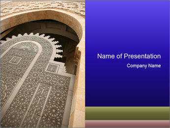 Antient Doorway in Islamic Style PowerPoint Template
