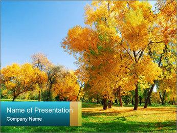 Golden Forest PowerPoint Template