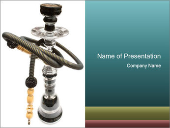 Chilling with Hookah PowerPoint Template