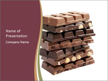 Chocolate Bars with Nuts PowerPoint Template
