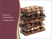 Chocolate Bars with Nuts PowerPoint Templates