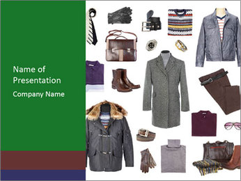 Fashionable Winter Clothes for Men PowerPoint Template