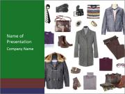 Fashionable Winter Clothes for Men PowerPoint Templates