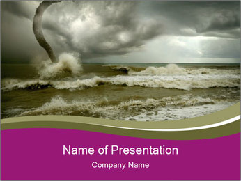 Storm in the Sea PowerPoint Template