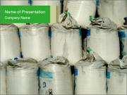 Bags with Chemical Bulk PowerPoint Templates