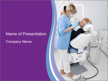 Dentist Working with Client PowerPoint Template