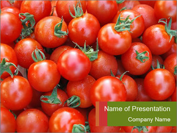 Organic Tomatoes PowerPoint Template
