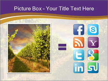 italian vineyard powerpoint template & backgrounds id 0000014368, Modern powerpoint