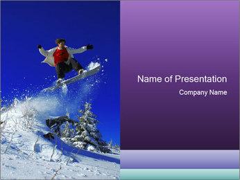 Snowbording in Alps PowerPoint Template