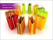 Shopping Bags in Circle PowerPoint Templates