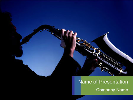 Saxophonist silhouette powerpoint template backgrounds id saxophonist silhouette powerpoint template toneelgroepblik Choice Image