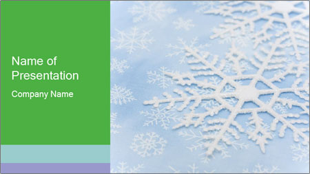 winter snowflake powerpoint template backgrounds google slides