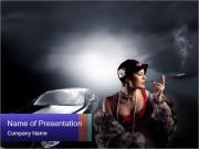 Rich Retro Woman PowerPoint Templates