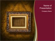 Antique Golden Frame PowerPoint Templates
