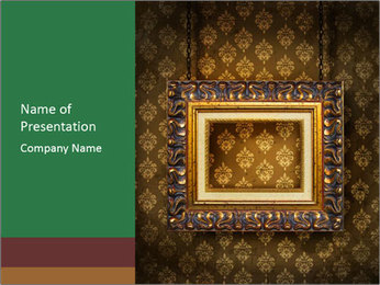 Frame for Art Exhibition PowerPoint Template