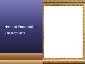 Golden Frame PowerPoint Template