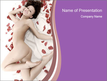 Nude Woman in Bed PowerPoint Template