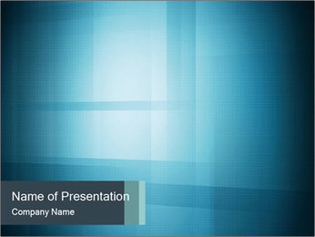 Designed Blue Abstraction PowerPoint Template