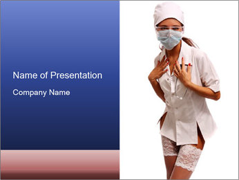 Sexual Nurse Costume PowerPoint Template