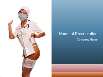Sexy Woman in Nurse Costume PowerPoint Template