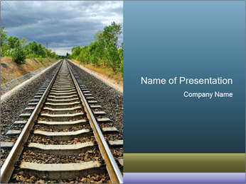 Empty Railroad PowerPoint Template