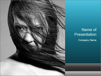 Black and White Photo Portrait PowerPoint Template