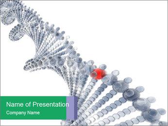 Human DNA Chain Modèles des présentations  PowerPoint