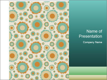Abstract Bubbles Wallpaper Pattern PowerPoint Template