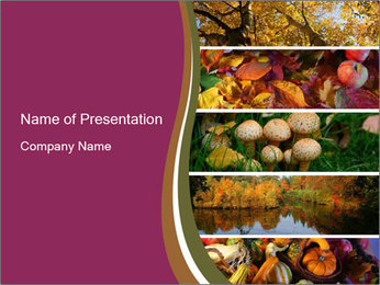 Autumn Mushroom Season PowerPoint Template