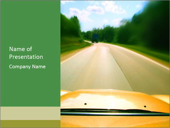 View to Road PowerPoint Template