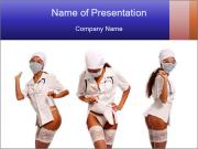 Medical Nurse in Sexy Costume PowerPoint Templates