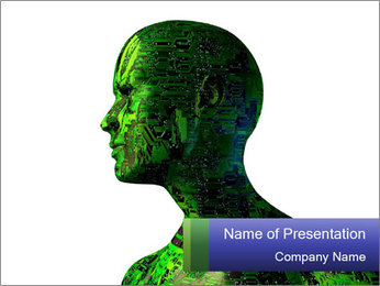 Green Digital Man PowerPoint Template