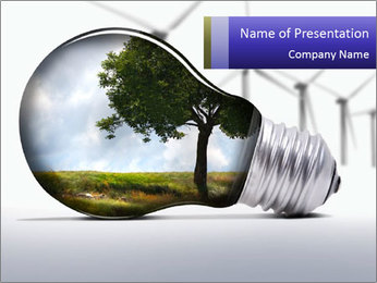 Environment in Light Bulb PowerPoint Template
