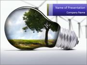 Environment in Light Bulb PowerPoint Templates