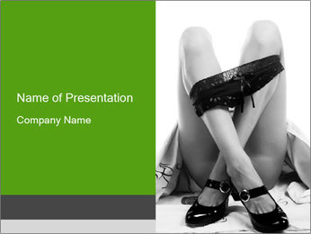 Lying Undressed Woman PowerPoint Template