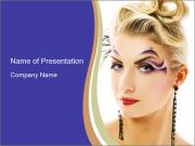 Woman with Creative Makeup PowerPoint Templates