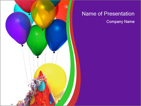 Birthday Party For Children Powerpoint Template Backgrounds