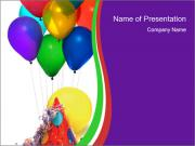 Birthday Party for Children PowerPoint Templates