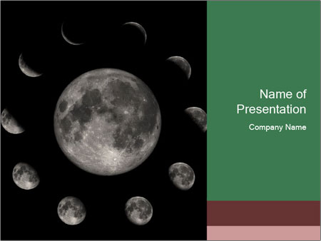 Moon Phases PowerPoint Template
