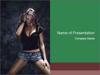 Nightclub Female Dancer PowerPoint Template