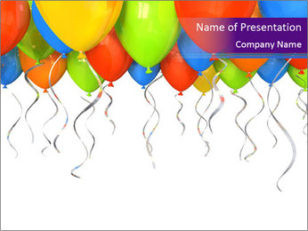 Colorful Party Balloons PowerPoint Template