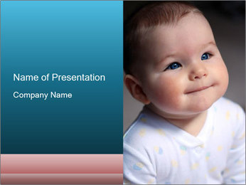 Baby with Cute Cheeks PowerPoint Template