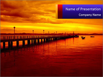 Marine Sunset PowerPoint Template