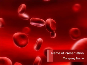 Blood Cells in Microscope PowerPoint Template