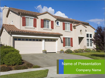 Cottage Exterior PowerPoint Template