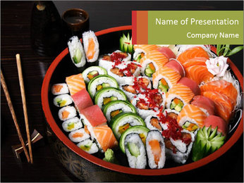Sushi Menu PowerPoint Template